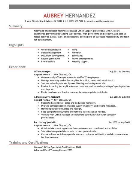 Admin Resume Examples Administrative Sample Resumes Livecareer
