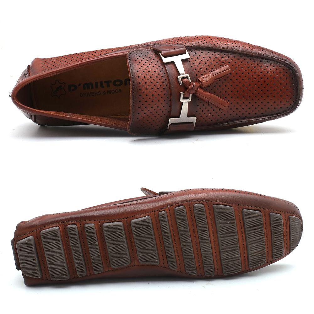 7ae3dd9401 Mocassim D Milton Couro Chocolate 44-29950 - Mobile-CalcadosOnline Sapatos  Mocassin