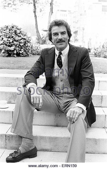 1985 Tom Selleck, Actor, Photo-call, London, 2nd May