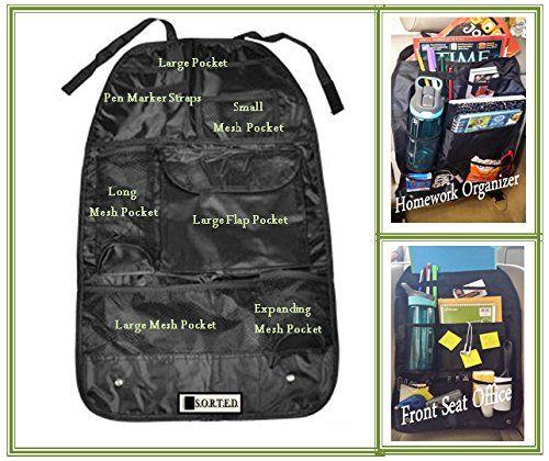 Backseat Organizer - Travel, Homework, Baby, Toy, Car Office ...