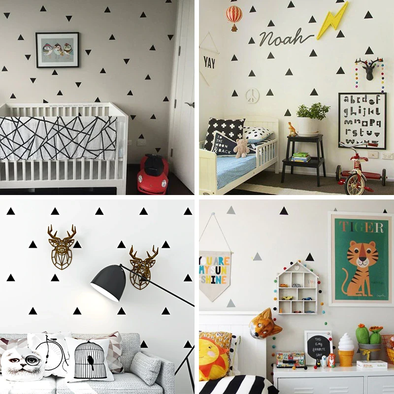 Little Triangles Wall Decals For Baby Boy S Room Removable Decorative Wall Stickers For Nursery Wall Decor Boys Wall Decor Kids Bedroom Wall Decor Baby Wall Decor Boy