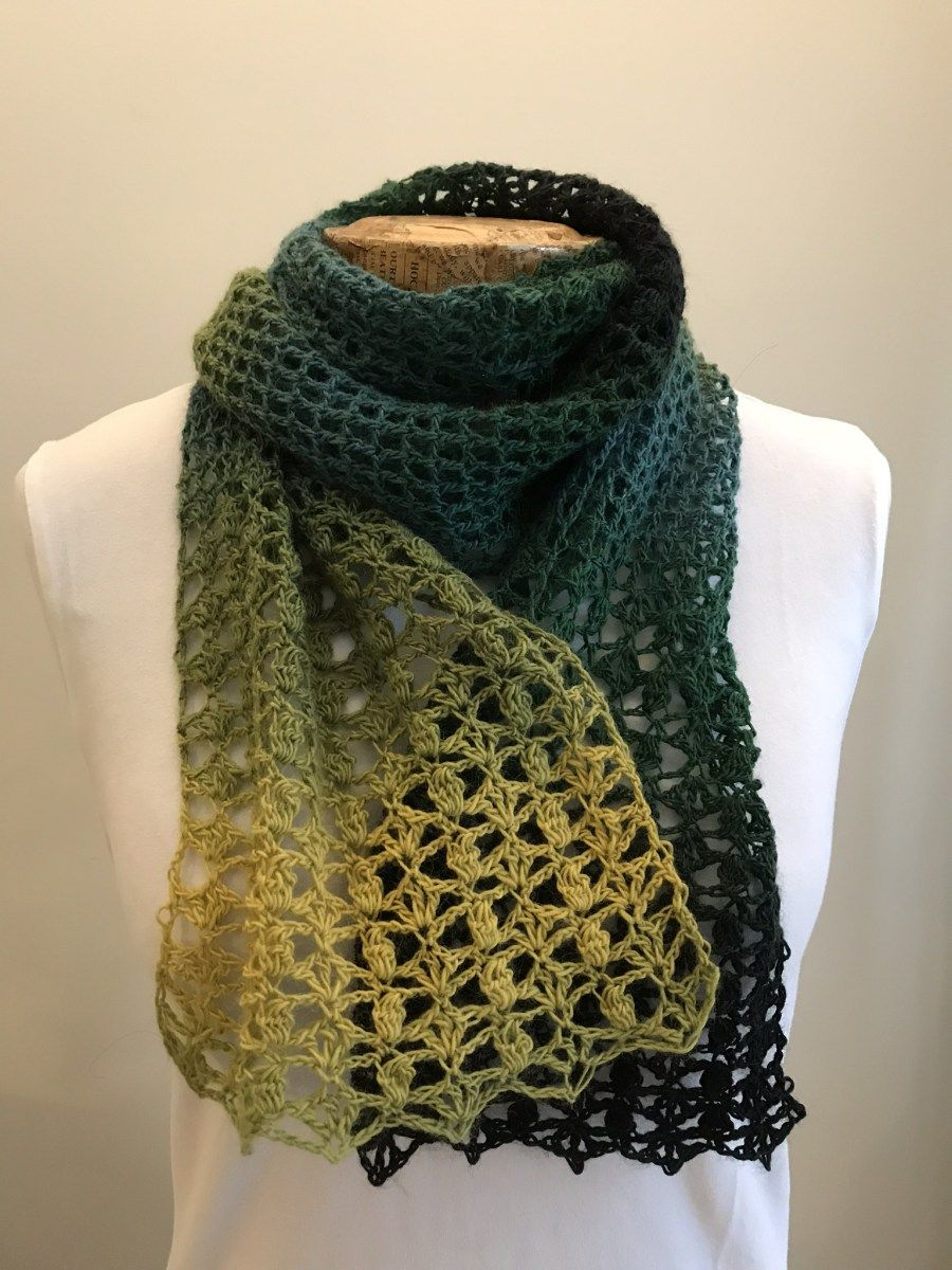 One Skein Crochet Scarf Free Pattern | Scarves, Crochet scarves and ...