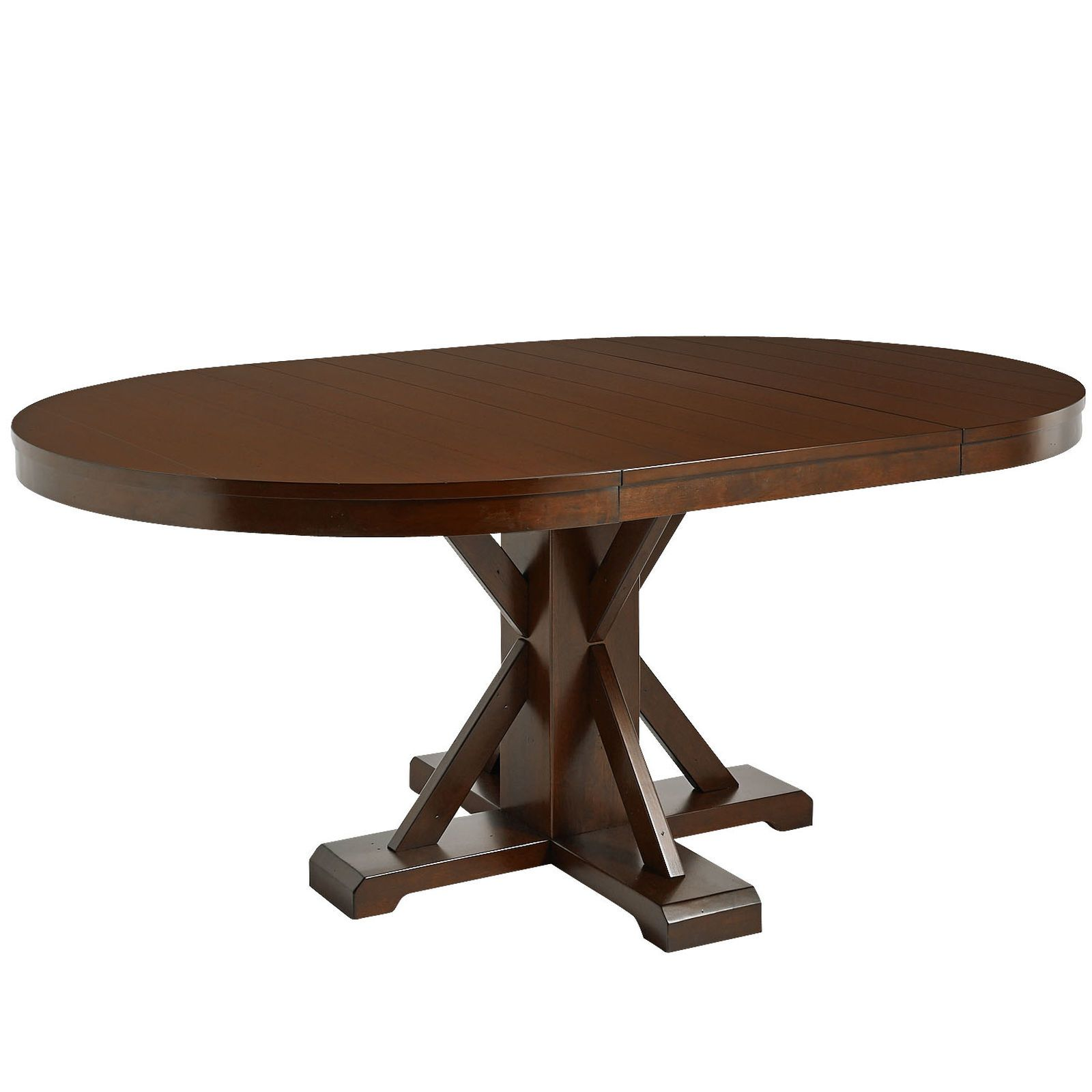 nolan extension round dining table tuscan brown pier 1 imports