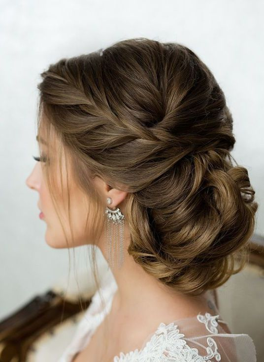 Top 12 Chic Side French Braided Low Twisted Updo Wedding Hairstyles 2017