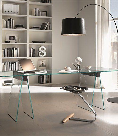 Rectangular Glass Table Kasteel By Tonelli Design Design Moe Design Lab Office Home Modern Home Office Furniture Modern Glass Desk Modern Home Office