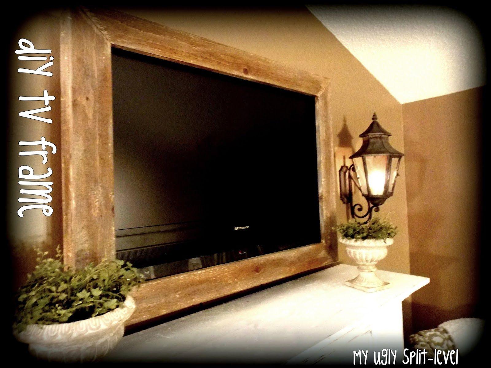 My Ugly Split-level: DIY Barn Wood TV Frame | DIY Home | Pinterest ...