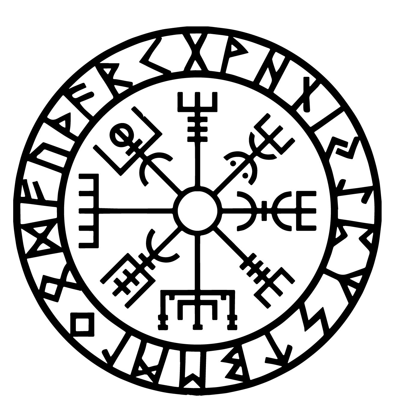 Vegvisir viking symbol of protection and guidance the runic viking vegvisir viking symbol of protection and guidance the buycottarizona