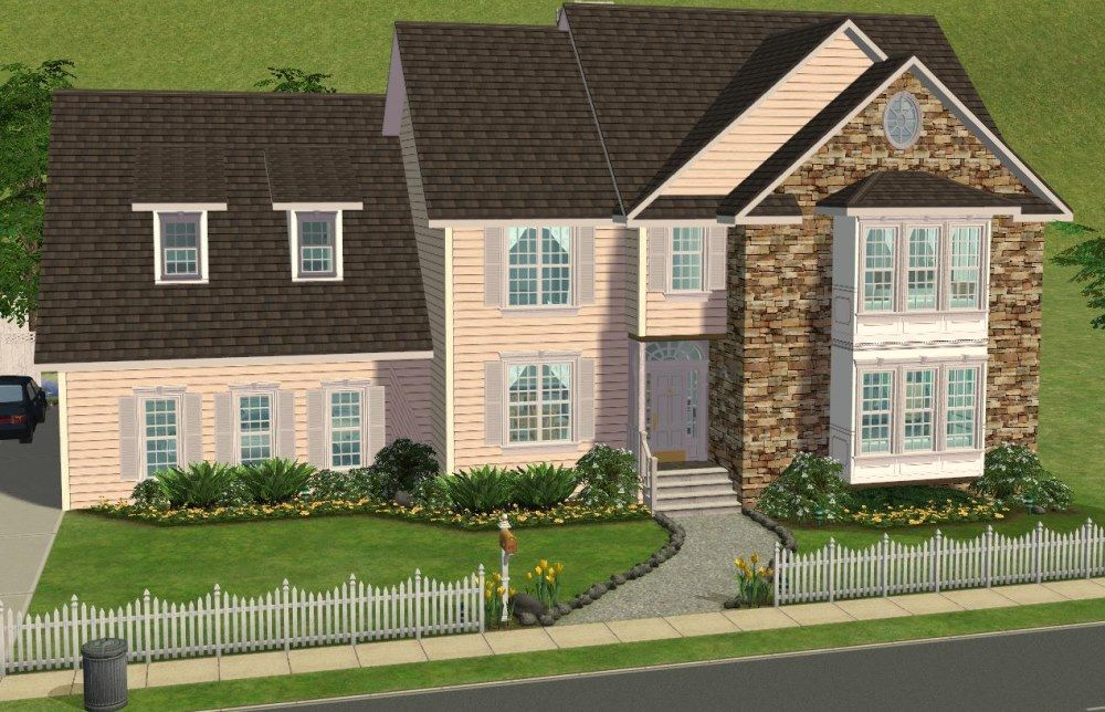 Sims 2 University Housesspring4sims 5 Bedroom Colonial Style