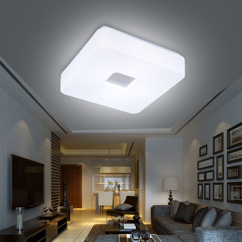 V Square Led Ceiling Lights Modern Hallway Flush Mounted - Square kitchen ceiling lights
