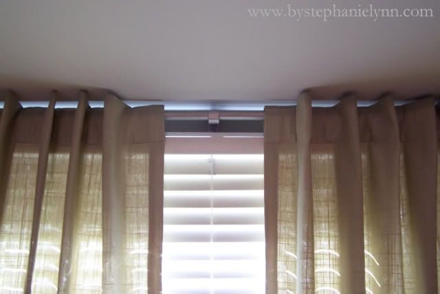 Make Your Own Bay Window Curtain Rod Treatments For Our Windows