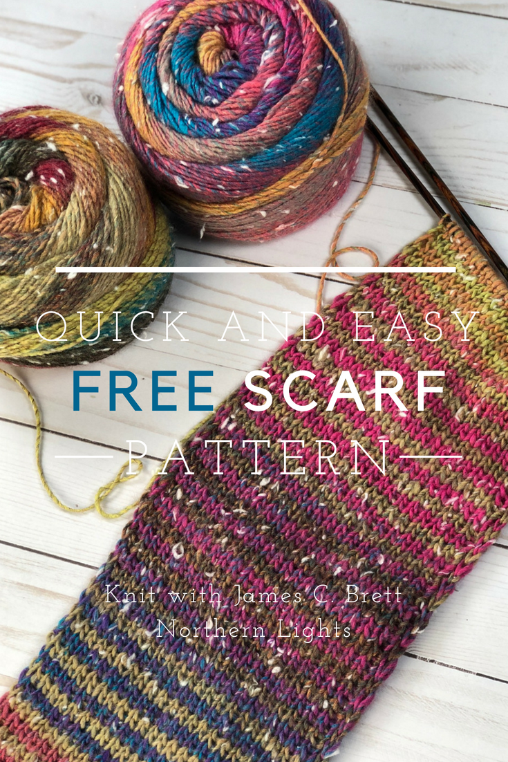 Quick And Easy Free Scarf Knitting Pattern For James C Brett