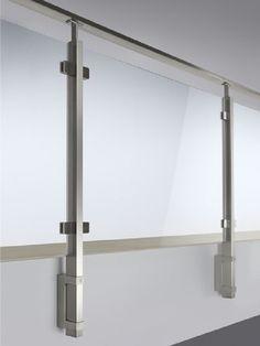 Baranda de escalera para balcones para escaleras SQUARE LINE 60x30 Colección Square line 60x30 by Q-RAILING ITALIA | diseño Q-RAILING
