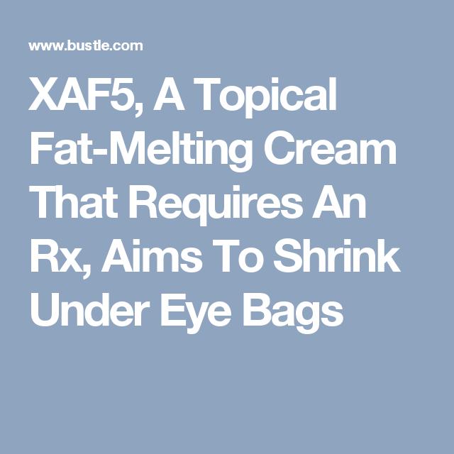 A Fat-Melting Cream For Under Eye Bags? Yep! | Health