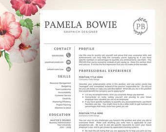 creative resume template creative resume design resume template word resume cover letter resume template nurse pc mac emma johnson - Resume Template Word Nurse