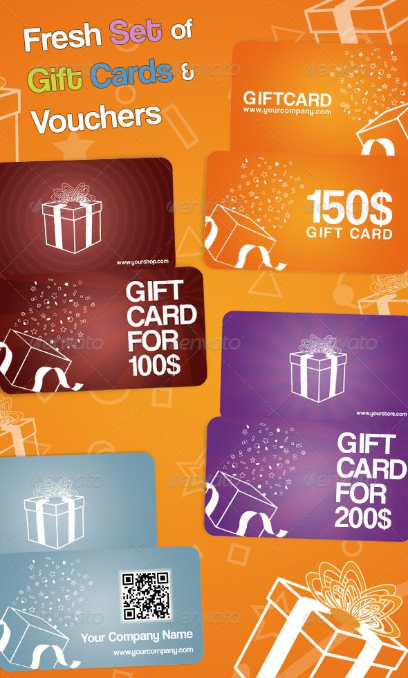 Fresh Set Of Gift Cards And Vouchers Loyalty Cards Cards