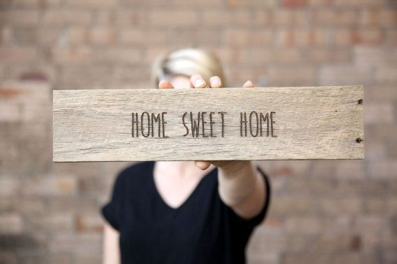 Home Sweet Home Sign Wedding Sign Rustic by TheNorthwoodCo on Etsy
