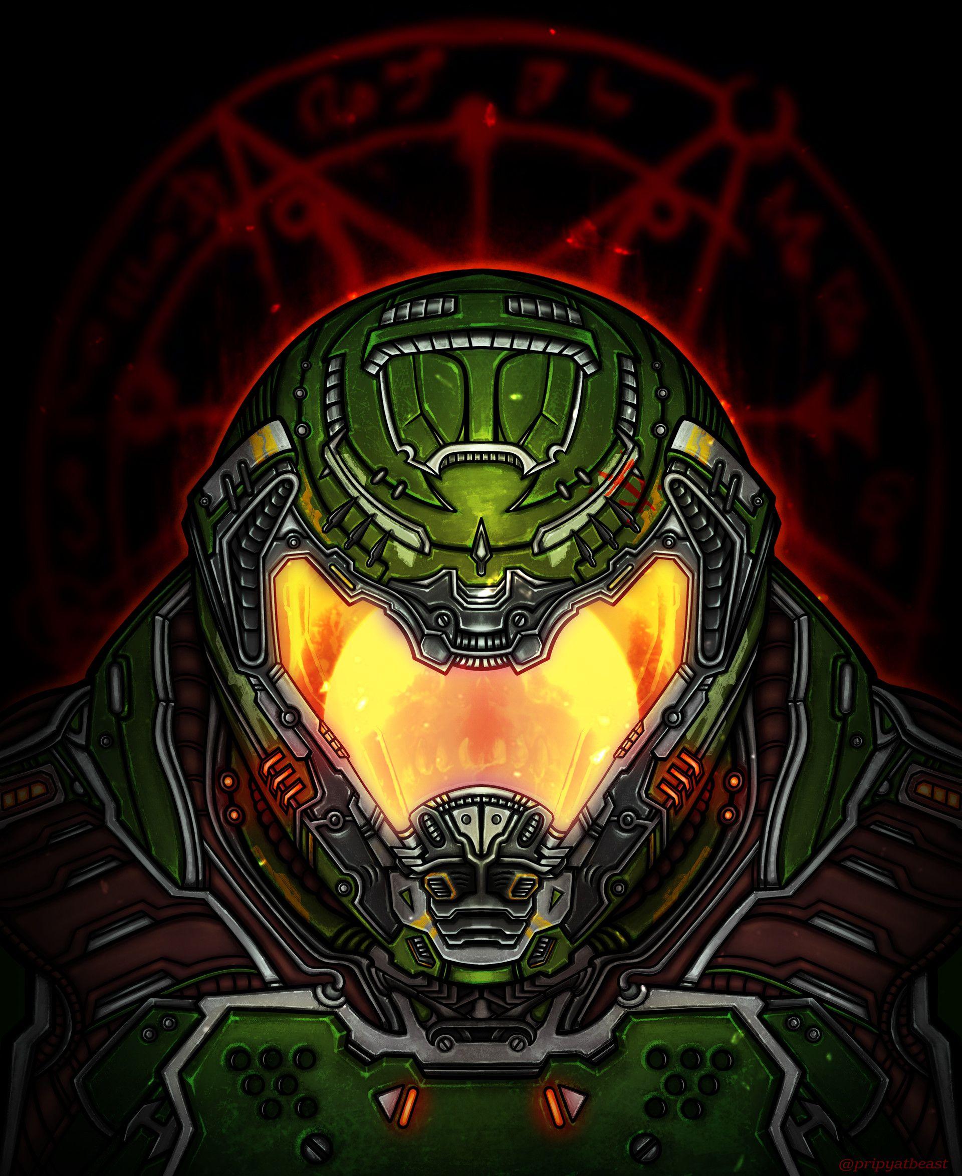 Artstation The Doom Slayer Stephen Kick Doom Videogame Doom