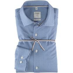 Photo of Camisa Smart Business Olymp Level Five, ajuste do corpo, Kent, Azul, 41 Olymp