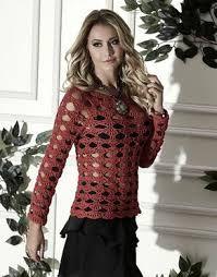 blusa crochê vazado