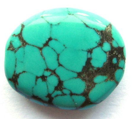 8 Ct Antique Repolished Tibet Turquoise Upcycled by SilverFound, $7.95