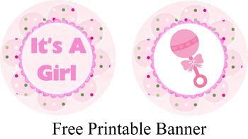 free printable it s a girl party banner baby shower ideas in 2018
