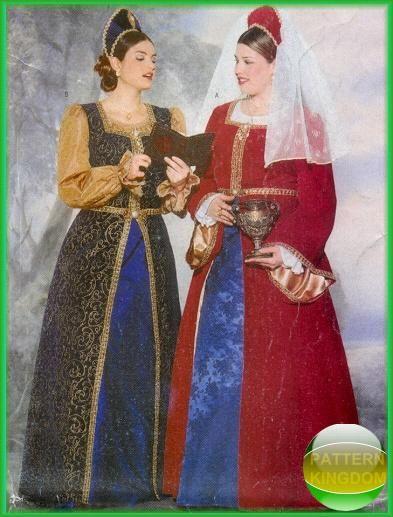 Butterick 40 Tudor Reniassance Dress Patterns Plus Size Patterns Custom Plus Size Costume Patterns