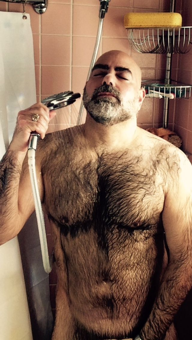 Beautiful! Hairy men in the shower
