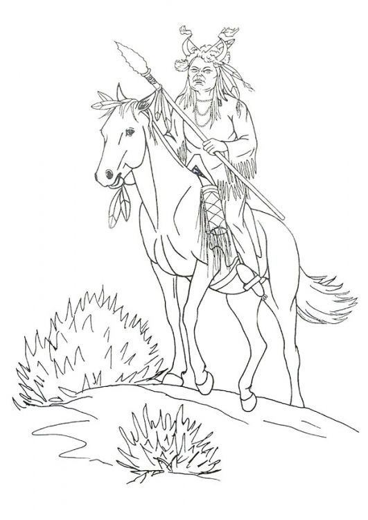 Native American Designs Coloring Pages | horse coloring page of ...