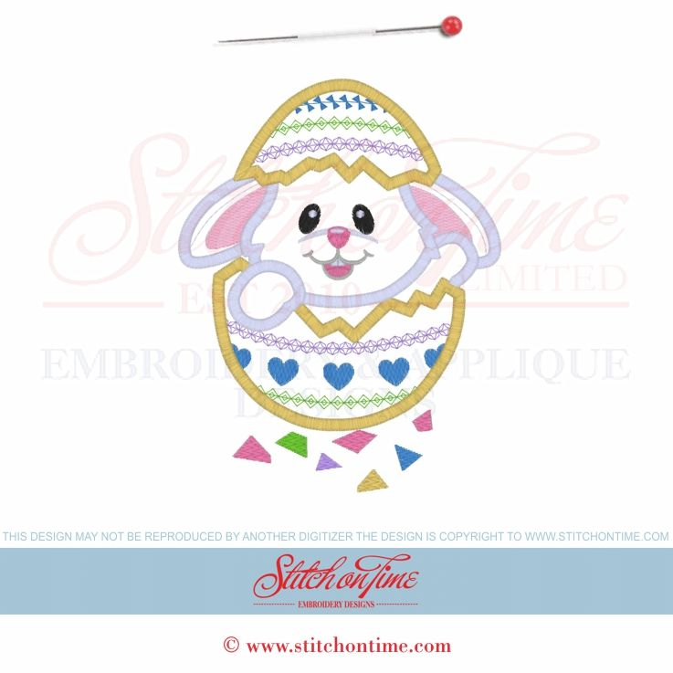 1 Easter Bunny (PPP): Bunny Rabbit Applique 5x7