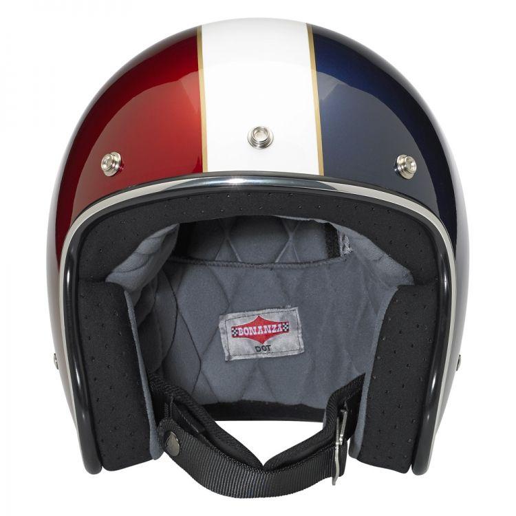 Biltwell Bonanza 3 4 Dot Le Racer Helmet Red White Blue Helmet Vintage Helmet Motorcycle Helmets