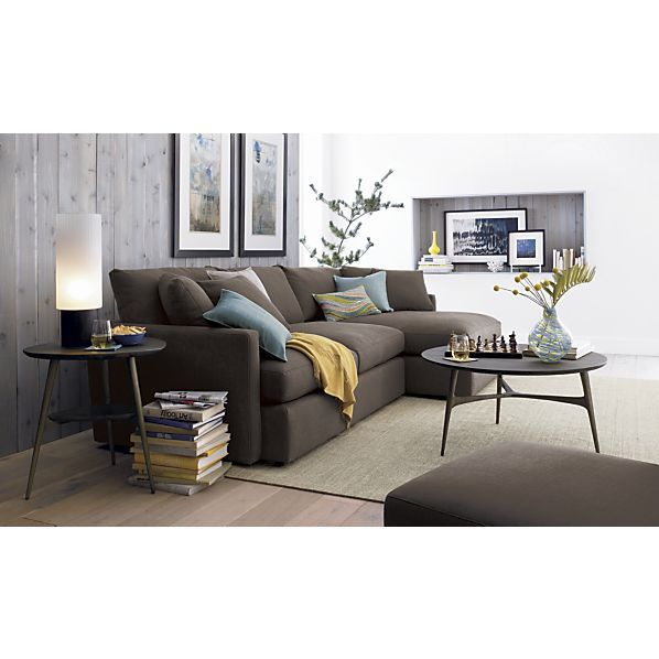 Crate And Barrel Bel Air Round Coffee Table, Lounge Sectional Sofa
