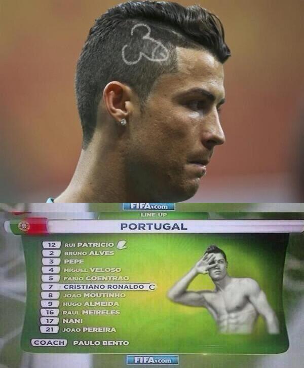 é sempre justa uma brincadeira com cristiano. #copadomundo #copa2014 #worldcup #tatendomuitacopa