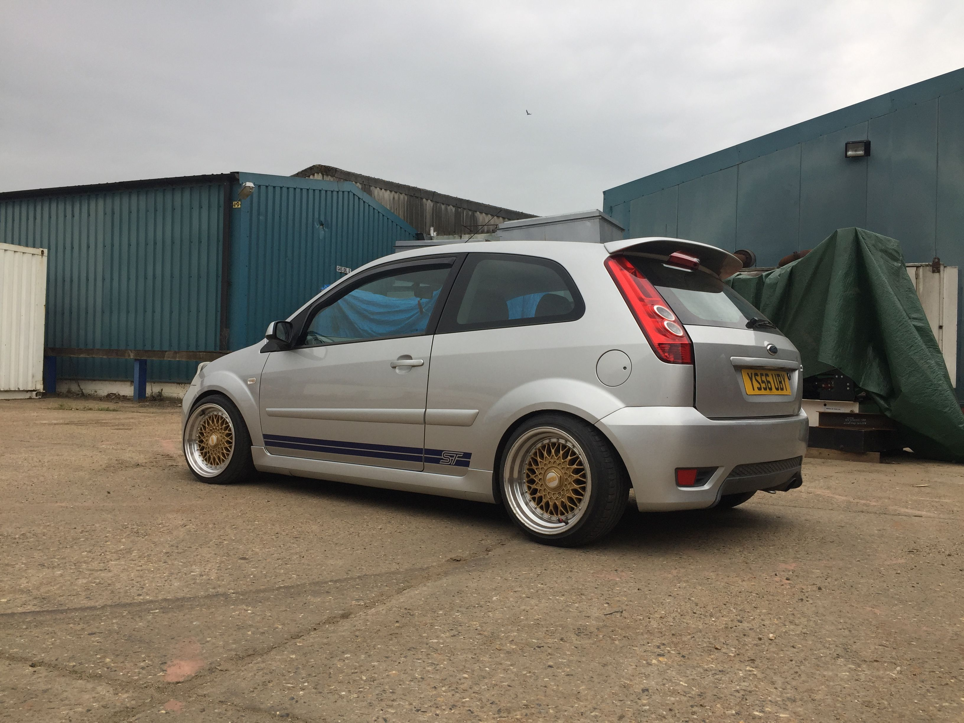 Ford Fiesta Mk6 St 150 Lowered On Coilovers Bbs Style 16 Inch Wheels Stance Stretched Tyres