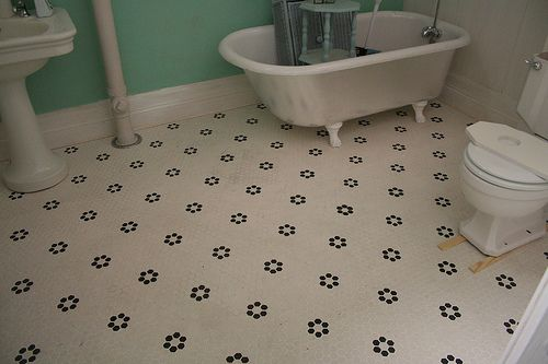 Daisy Penny Tiles In Black And White