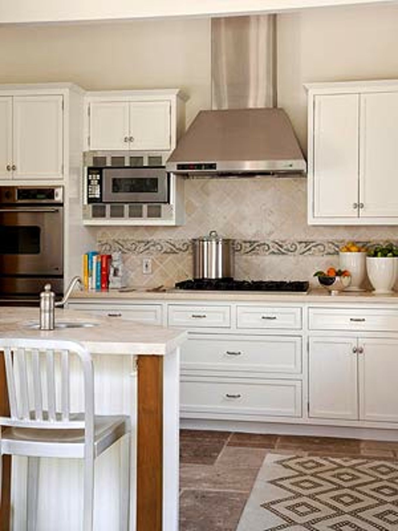 ideas white cabinets kitchen then backsplash gray subway tile home ...