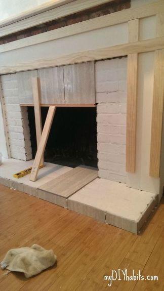 Diy Brick Fireplace Refacing Reface Fireplace Diy Fireplace Mantel Diy Fireplace