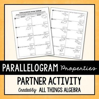 Pin On Geometry Properties of parallelograms worksheet