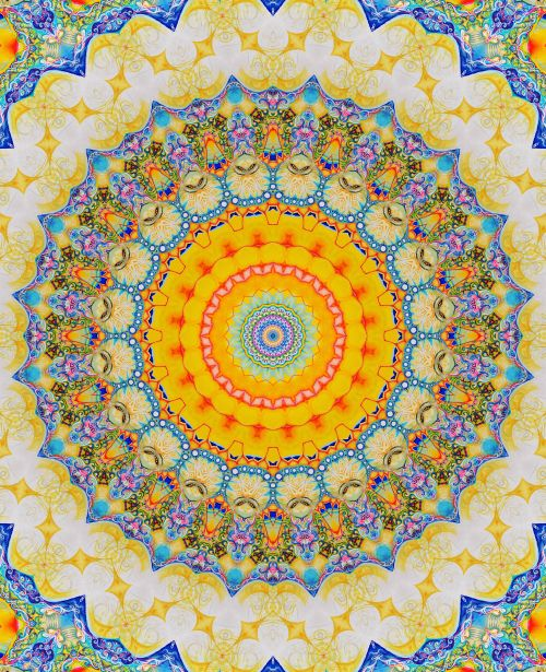 A sunny mandala to bring out our inner radiance...  chichiliki:    ForMANDALA GIFS