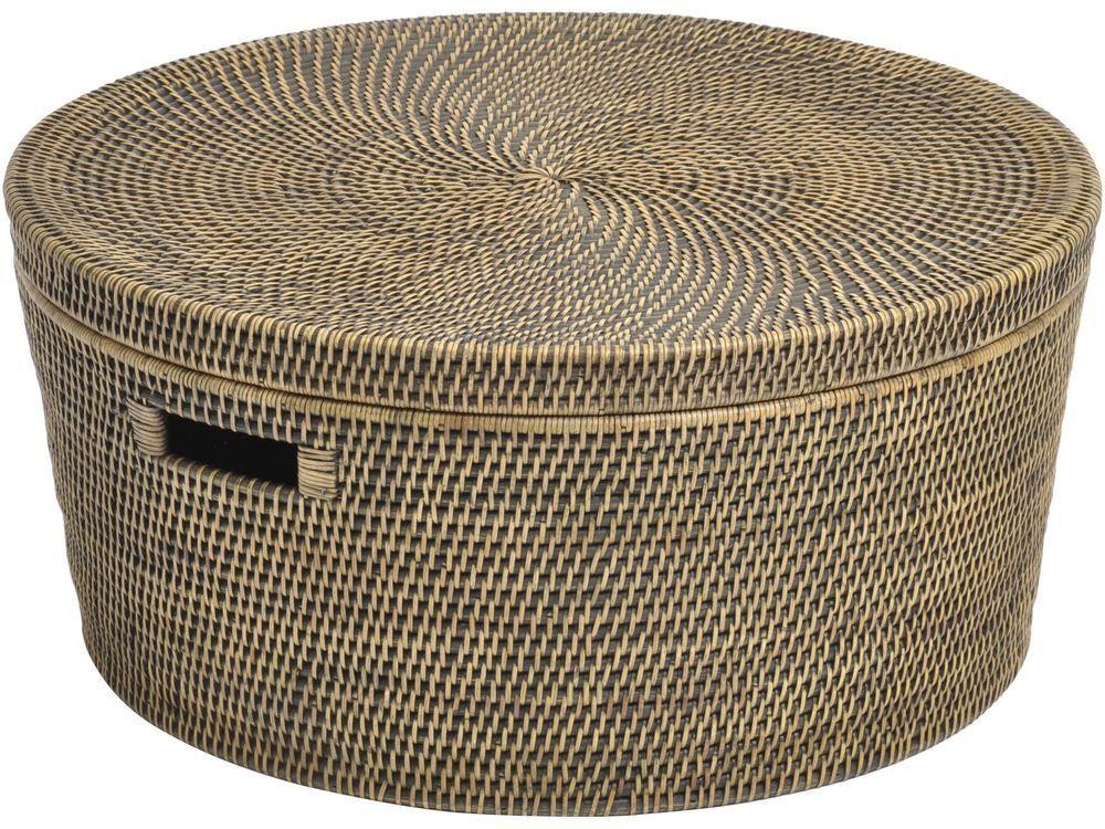 Elegant Large Round Basket With Lid Designs