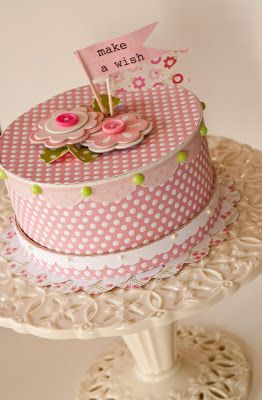 ...Hat box Cake to put gift in!!!!