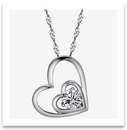 Sterling silver heart pendant necklace adornment for neck sterling silver heart pendant necklace aloadofball Choice Image