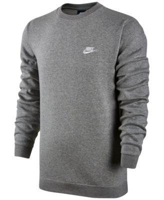 Nike Men's Crewneck Fleece Sweatshirt   Nike men, Mens crew ...