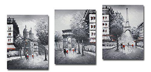 Muzagroo Art Stretched Eiffel Tower Oil Painting On Canva Https Smile Dp B00w3gk608 Ref Cm Sw R Pi X Vgp Ybgrz5yar
