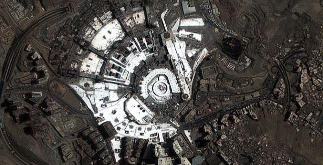 Photo Of Masjid Al Haram Makkah From Space Mecca Makkah Photo