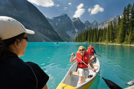 Lake Louise in Banff, Canada and its natural beauty and crystal clear air and lakes is the perfect remedy for whatever ails you!