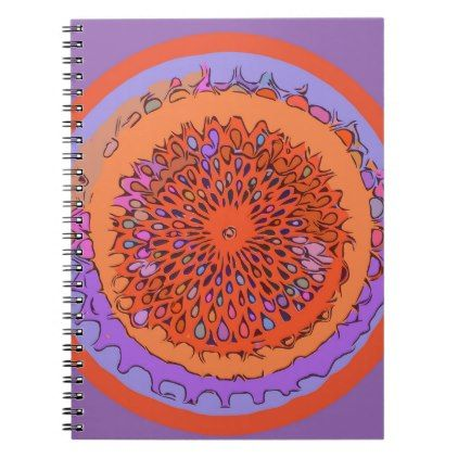 Orange Slice Abstract Note Book - college gift idea customize diy unique special