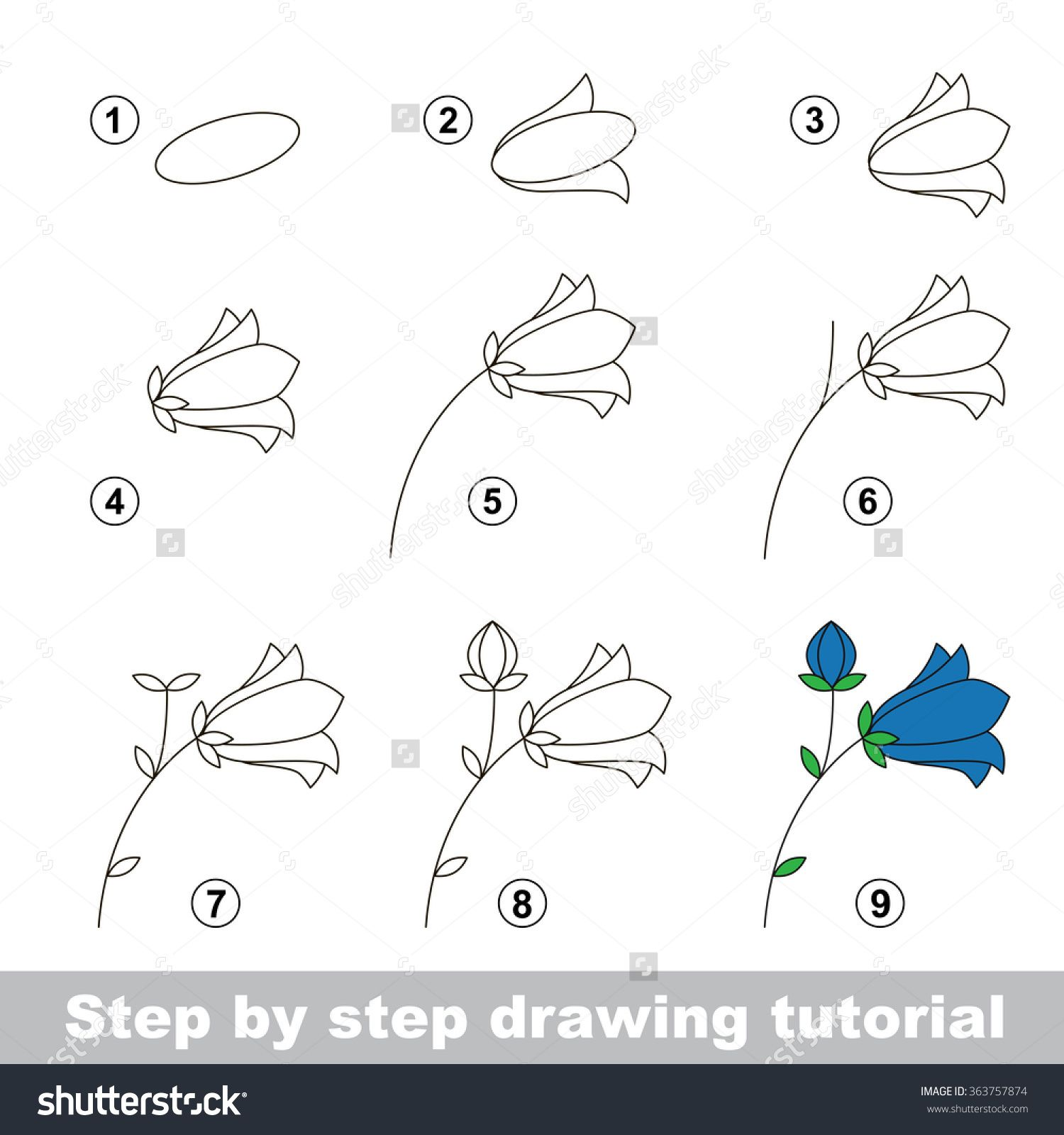 stock vector step by step drawing tutorial vector kid game how to