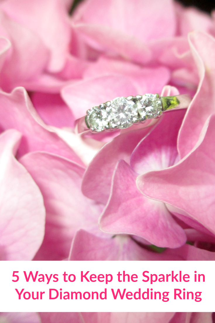5 Ways to Keep the Sparkle in Your Diamond Wedding Ring | Keep your ...