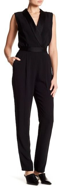 33a7f109a455 HUGO BOSS Duxida Sleeveless Tuxedo Jumpsuit