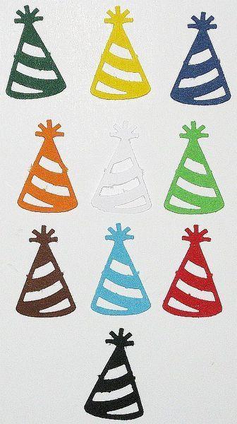 50 Partyhüte (kräftige Farben) von MutziflohsStoeberecke auf DaWanda.com
